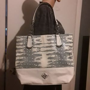 Vera Wang large white and gray tote with 2 straps